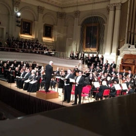 Mark Mummert singing the role of Jesus in Bach/Mendelssohn's St. Matthew Passion at Mechanics Hall, Worcester. April 20, 2018