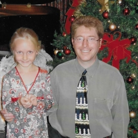 With Emily after the Christmas Recital