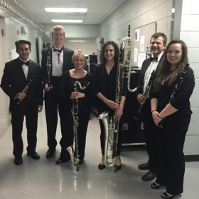 Getting ready to play some contrabass clarinet