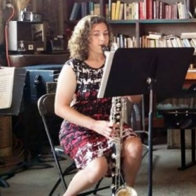 Bass clarinet and books