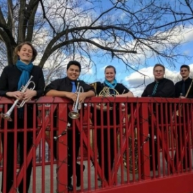 The founding members of the Luminous Brass Quintet in Winchester, VA.