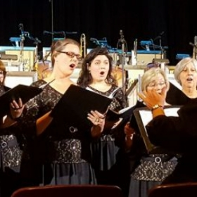 Singing with a local choir