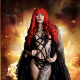 Makeup I did on tattoo model Cervena Fox for Lividity Magazine.