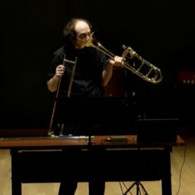 Premiering a contemporary Trombone solo at the Boston Conservatory for M.M. Composition candidate Bilin Zheng.