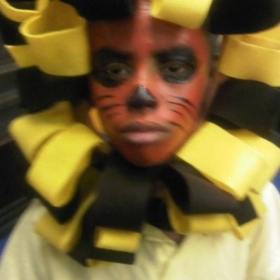My student as The Lion King