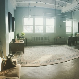 The North Shore Piano Studio is a big 500 sq foot room located in the Lydia Pinkham building in Lynn, MA