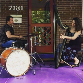 Abigail Selby & Eric Selby, performing in April of 2018
