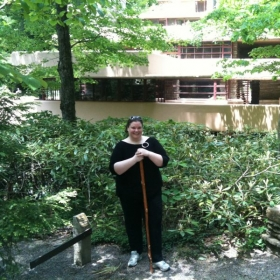 At Frank Lloyd Wright's Fallingwater.