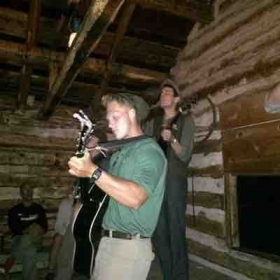 Playing bluegrass in an abandoned mineshaft in New Mexico!