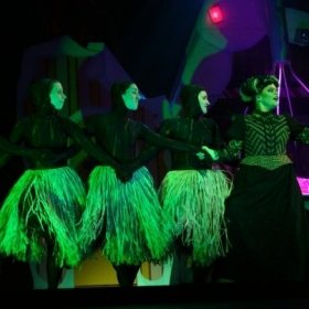 Dancing as a magic broomstick in the opera, Hansel und Gretel.