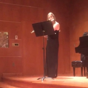 This is a snapshot of my Junior Recital at Grand Valley State University!