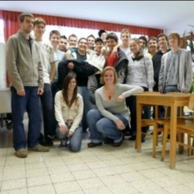With my Hungarian high school students; they were an awesome class!