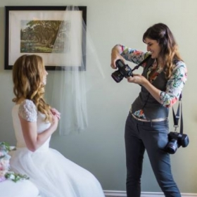 Behind the scenes on a wedding day!