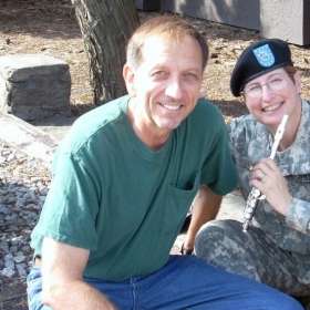 This picture was taken when I was stationed in Korea with the 2nd ID Band at Camp Red Cloud! My husband was visiting!