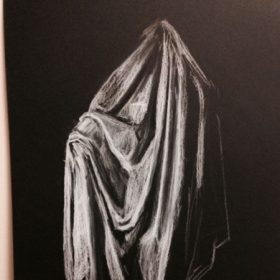 Light and Shadow Study (White Charcoal)