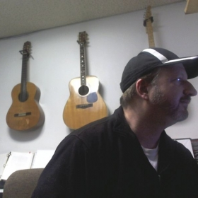 Russell Nollen in Nollen Music Studio