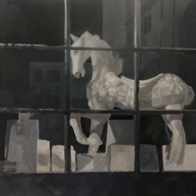 Carousel, Oil on canvas, 48in x 72in