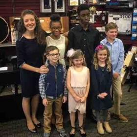 December 2017 studio recital with some of my Music & Arts students