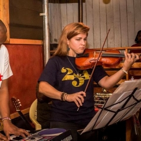 Performing at a local restaurant.  To me, it's so important that music teachers keep up an active performance schedule themselves