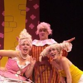 """I""""m the one with the crazy sideways hair.  This was a performance of Cinderella at Gary Marshall's theater in LA."""