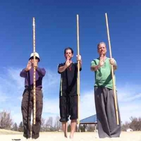 Love kung fu practice on sand volleyball courts!