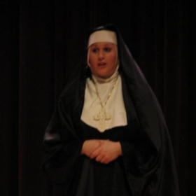 "Performing as the Mother Abbess in ""The Sound of Music""."