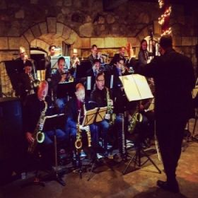 This is me conducting a big band at a Winery in Napa