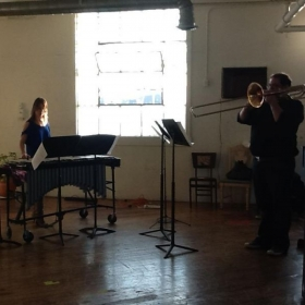 Here I am performing a Bass Trombone solo with Marimba accompaniment in Los Angeles, California