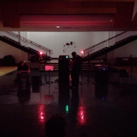 """My old group D-M-T performing """"Surtur"""" for a sleep concert, written and composed by me, for Electric Bass, amplified Tuba, and Modular synth"""