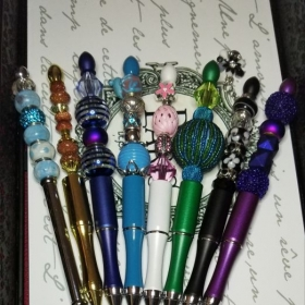 Some of my beaded pens that we will be making