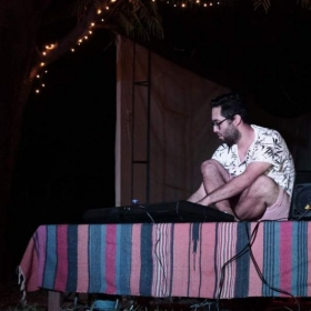 Performance of electronic music at Terra Alta in Accra, Ghana (Dec. 2018).