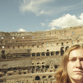 This is the Colosseum of Rome! Il Colosseo di Roma. :)