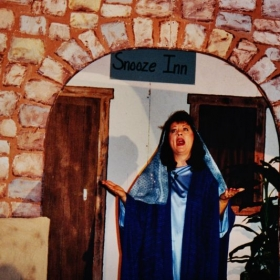 Drama I played the part of Mary, singing and acting