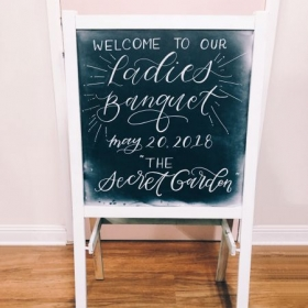 Chalkboard lettering for events