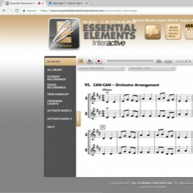 use essential elements interactive as an app or online. This will give you a play along