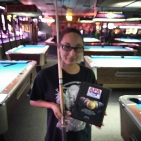 My latest success story. She took first place in her local APA tournament with a stick she borrowed from me.