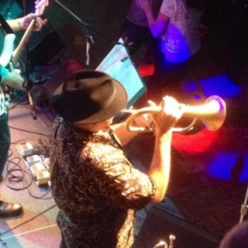 Playing a Flugelhorn Solo with the E-Ticket Band