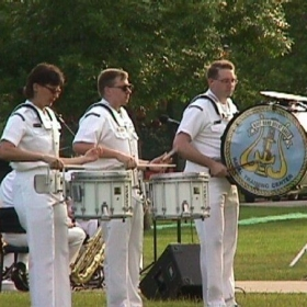 Navy Band Great lakes: I filled in on drums and percussion when short-staffed.