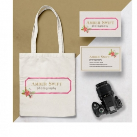 Photography Branding: Logo, tote bag  and business card design