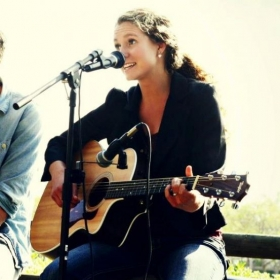 Performing with Tanner Howe.