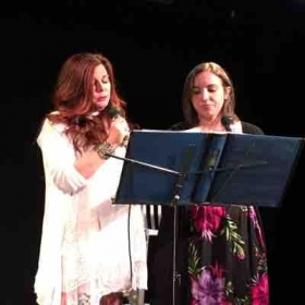 Singing with one of my lovely and talented students. 💛💗