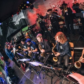 Billy performing with the JMI Jazz World Orchestra at the A to Jazz Festival in Sofia, Bulgaria.