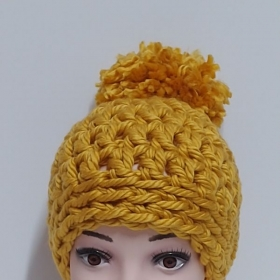 Beautiful chunky crochet hat