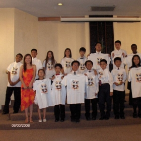 After our annual recital, my students got violin panda shirt.