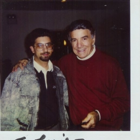 "Lou S. with the ""GREAT"" Louie Bellson after our Drum Battle!"