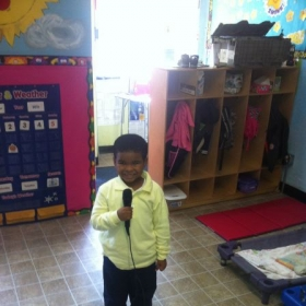 "One of our students in our ""Little Voices For Singers"""