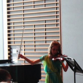 Picture from one of my student recitals. I played with my students. This was probably 2015 or 2016.