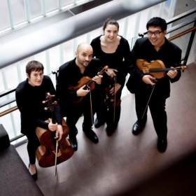 This is my quartet that I played with on a cruise ship! This was back in 2013.