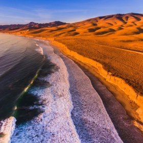 Aerial of Jalama Beach, California