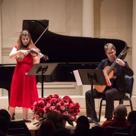 The York Street Duo performing in Carnegie Hall as winners of the American Protege International Competition 2018